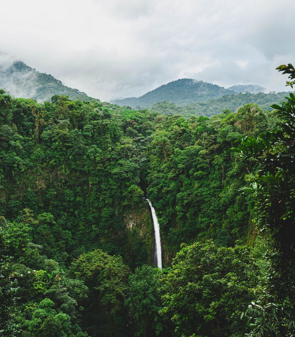 Visit the beautiful and iconic La Fortuna waterfall on day 7 of the tour
