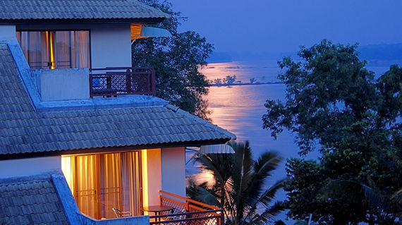 A tranquil resort on the banks of the Mekong River