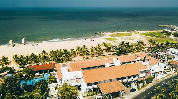 Brush off any jet lag or stress from transit in the gorgeous accommodations of your first night in Sri Lanka