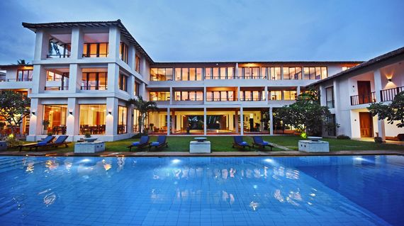 Indulge in the luxurious surroundings of this beach side resort before bidding Sri Lanka adieu.