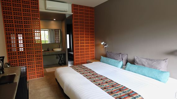 A funky accommodation with a mix of Thai and modern design all of which lend to a night of fun and relaxation