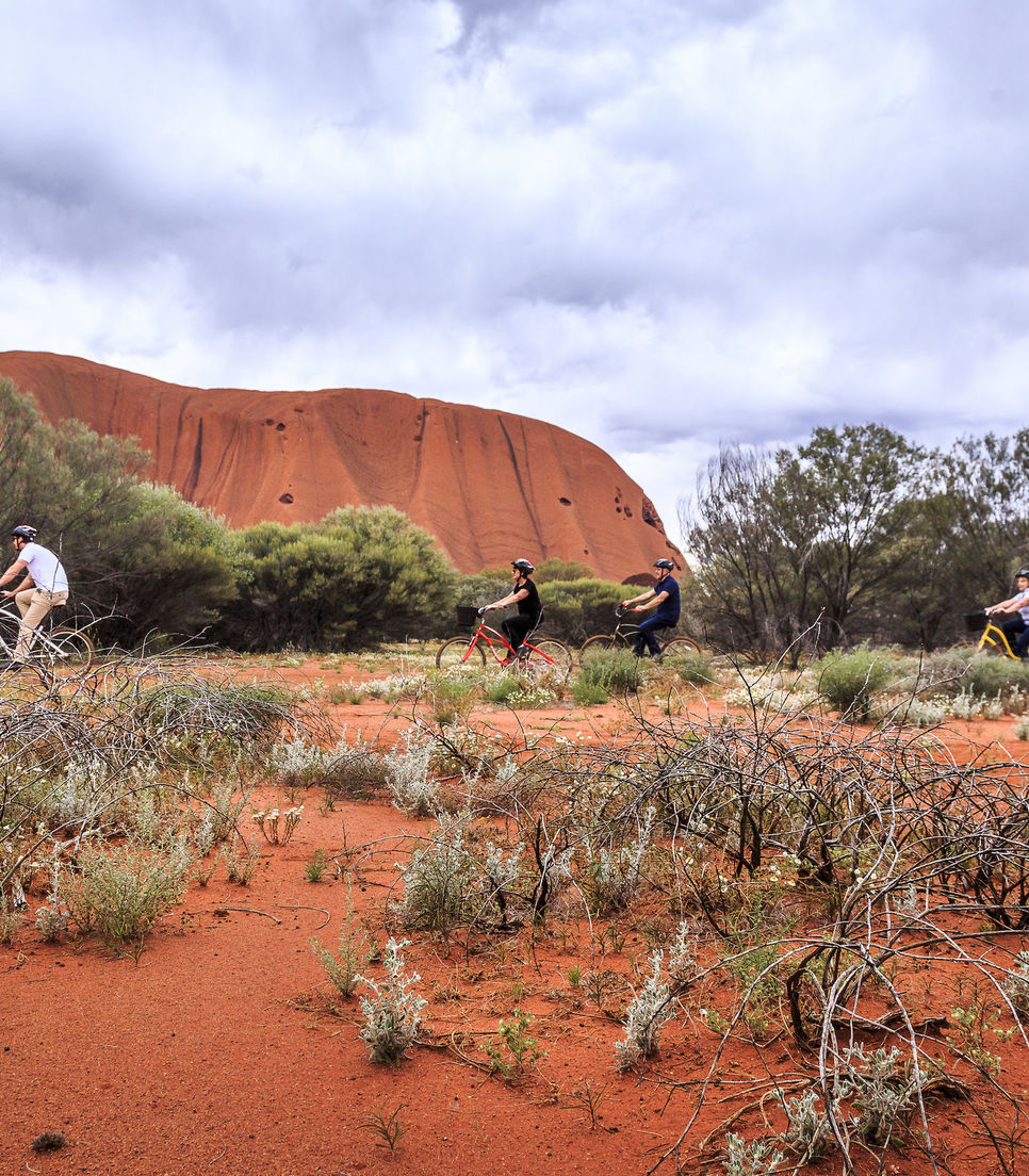 Jump on a bicycle and explore the rock with the whole family